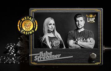 Die besten Online Casinos bei metal casino die besten live Spiele Pokerchips tube streamer close up Frau und Mann