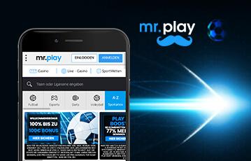 Die besten Online Casinos bei mr. play mobile App smartphone screen webseite mr. play