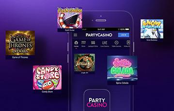 Die besten Online Casino Spiele bei party casino mobile App smartphone Übersicht Spiele