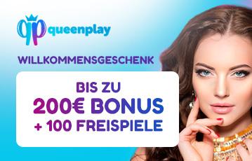 Die besten Online Casino Spiele bei queenplay call to action bis zu 200 Euro Bonus und 100 Freispiele