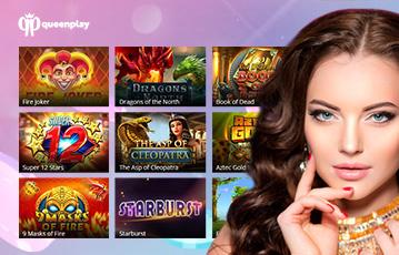 Die besten Online Casino Spiele bei queenplay Übersicht Spiele Auswahl Close up Gesicht Frau