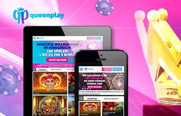 Die besten Online Casino Spiele bei queenplay mobile App tablet smartphone Spiele Übersicht