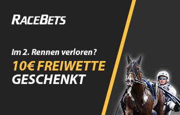Die besten Online Sportwetten bei racebets call to action Bonus 10 Euro Freiwette close up Rennpferd Jockey
