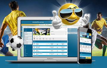 Die besten Online Casino Spiele bei sunnyplayer 3D smiley mit Sonnenbrille laptop smartphone Fussballspieler