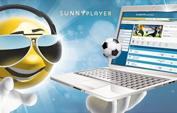 Die besten Online Casino Spiele bei sunnyplayer 3D smiley mit Sonnenbrille und laptop in der Hand