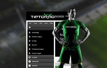 Die besten Online Sportwetten bei tiptorro screen smartphone Illustration 3D Fussballer