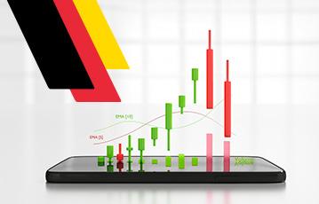 3D Infografik auf smartphone Aktien kaufen