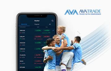 smartphone Übersicht screen Finanzen davor vier Fussballspieler Umarmung