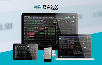 destop tablet smartphone und laptop Übersicht Finanzen banx trading