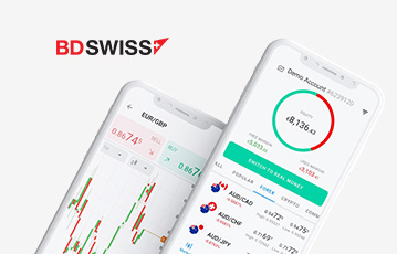 zwei smartphone screen Diagramm Finanzübersicht bdswiss