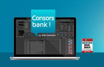 consors bank laptop screen Übersicht Finanzen Siegel Testsieger