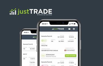 just trade zwei smartphones Übersicht webseite mobil