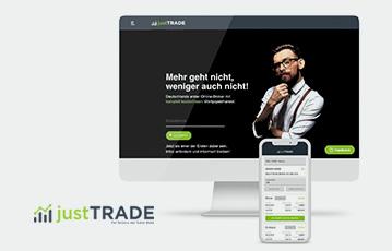 just trade broker desktop und smartphone just tarde webseite