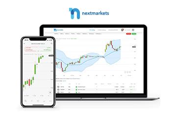 smartphone laptop nextmarkets webseite Diagramm Übersicht