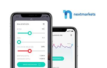 zwei smartphones webseite mobil nextmarkets