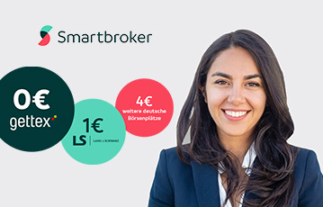 close up lächelnde Frau smartbroker call to action