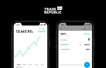 zwei smartphones close up webseite mobil trade republic