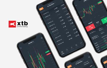 vier smartphones xtb broker mobil Diagramme Übersicht