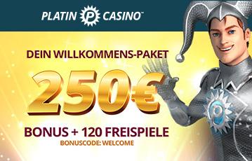 bonuscode platincasino