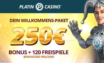 Platincasino - Jetzt Casino Bonus sichern!